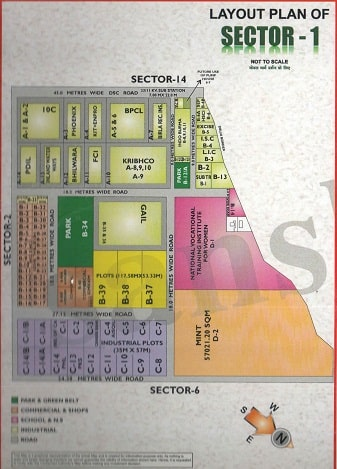 Sector-1 Noida Map