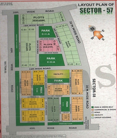 sector-57 Noida Map