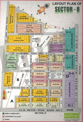 Sector-8,Noida Map