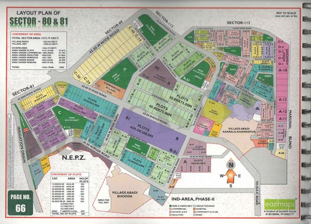 sector-80 Noida Map