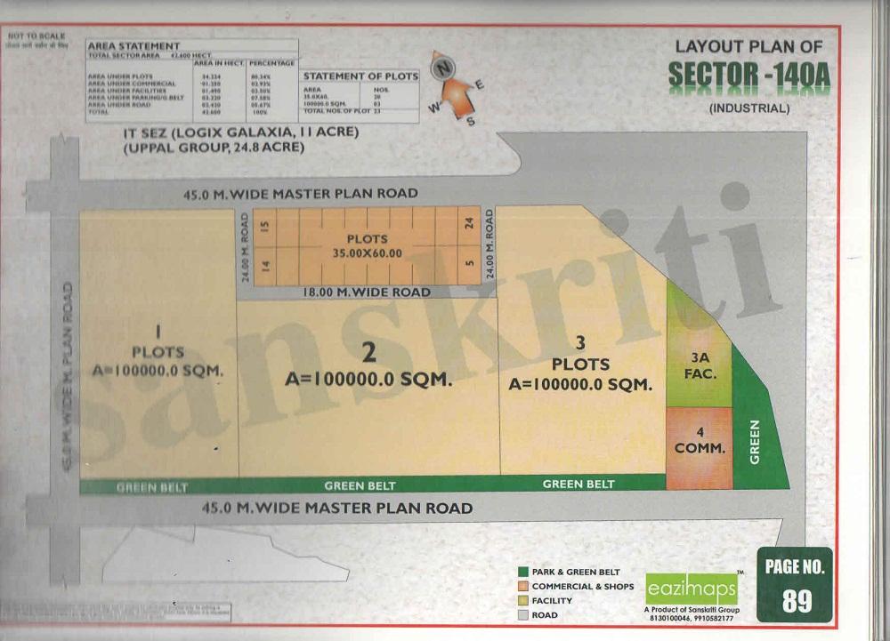 SEctor-140a Noida Map