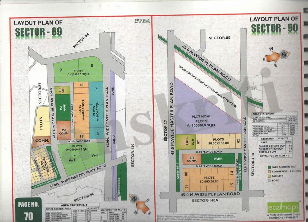 Sector-90 Noida Map